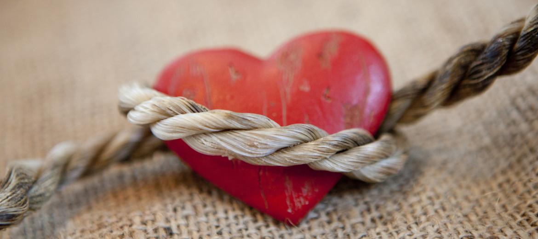 coeur et lien de corde